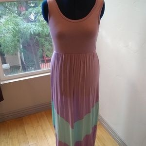 Bohme Lavander/Mint Maxi Dress in Size Large!